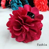 venta al por mayor - flor del pelo de la calidad de la joyería negro mandíbulas superior clip de rosa de la manera del pelo adornos pelo de las mujeres p
