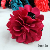 Wholesale flower hair jewelry quality black jaws clip fashion top rose hair ornaments women hair p