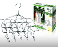 Wholesale Square folder stainless steel laundry treasure drying racks out clothing entrainment hanger