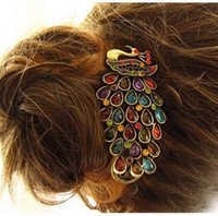 Wholesale Min Order mixed order E6150 queer accessories vintage peacock hairpin duckbill clip banana cli