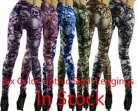animal print pants for women - 6 Colors women novelty skull print punk leggings for women gray red blue purple kakhi pants FG0108