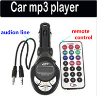Wholesale USB SD MMC Car MP3 Player car mp3 Car FM Transmitter with Remote Control