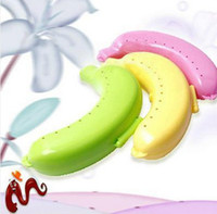 Plastic banana Eco Friendly Banana Protector Case Box Container forTrip School Work Pack Holder Storage
