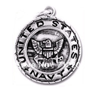 Wholesale alloy antisilver eagle with navy jewelry pendant charms