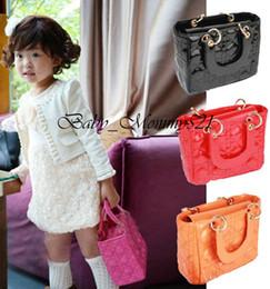 Wholesale Checkered Purse - Retail Diana Handbag Girls Candy Color Messenger Bag Lady Purse Mini Bag Woman Cosmetic Bag Kid Handle Bag Children Accessory