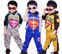 Autumn Kid Clothing Children Outfits(coat + pants)Korean lovely boy Sets embroider kid motion suit