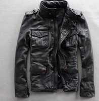 motorcycle leather jacket - best selling original Men s genuine Leather Jacket M65 motorcycles JACKET M XXL
