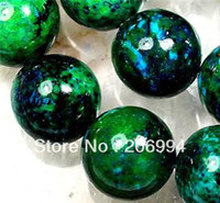 azurite jewelry - new arrive mm Azurite Chrysocolla Coin Gemstone Loose Beads quot pc fashion jewelry