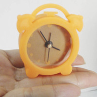 Wholesale 50pcs cheap price Hot sale clock Charming retrostyle silicone alarm clocks for