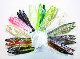 Wholesale 7 inch inch Octopus Skirt Lure Fishing Lure Sea Fishing Tackle Sea Trolling Bait Soft Bait Big Game Fishing Lures color mixed