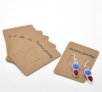 Wholesale Light Coffee Earrings Jewelery Display Cards x5cm quot x2 quot