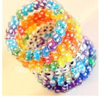 Wholesale New Colorful Rope Elastic Girl s Rubber Hair Ties Bands Headband Phone Strap Hair Band Small headwea