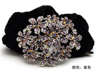fashion hair ornament - Rhinestone FlowerS Hairholders in Mixed color Fashion Hair ornaments Min ord