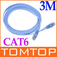Wholesale RJ45 Cat6 Flat Ethernet Patch Network Lan Cable m C1038