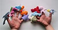 Wholesale Sea Animal Hand Puppets Hand Doll Children Plush Toys Good Helper for Telling Stories