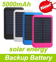 Wholesale 20 OFF Solar Panel mAh Portable Battery Backup Battery Power Station For Cell phone tablet PC