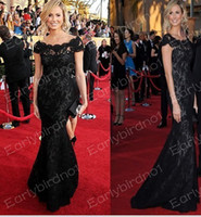 Sex and the City sex and the city dress - 2013 Celebrity Dresses Sexy Bateau Black Lace Mermaid Custom Made Vintage Floor Length Evening Gown