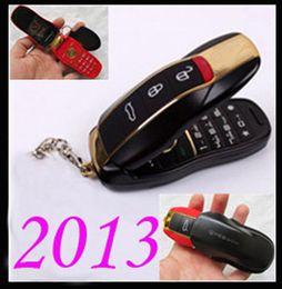 Wholesale F389 MINI Car Shape key w8 Flip Gold Dual Sim Dual Band F388 Unlocked cheap cell phone efit