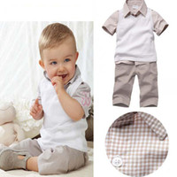 Leopard Christmas Boy 2013 Summer Baby Boys 3 Piece Suits Vest+Plaid T-shirt+Shorts Cute Kids Clothing Sets 5set lot
