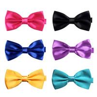 Wholesale Fashion Mens Bow Tie Casual Tuxedo Bowtie Adjustable Necktie Candy Colors