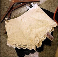 Wholesale A377 lace material crochet laciness sweet shorts