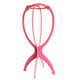 Wholesale 100 New Folding Plastic Stable Durable Wig Hair Hat Cap Holder Stand Display Tool