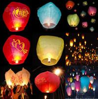 Wholesale Kongmingdeng COLOURED SKY LANTERNS CHINESE Fay Balloon Christmas gift Wishing Lamp S