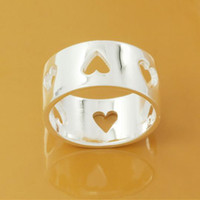 Wholesale Selling classic jewelry suspicious broadside RING silver plating DSSR