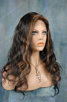 Wholesale 2013 Beautiful Lace Front Wigs quot quot Body wave B Indian Remy Human Hair Swiss Cheap wigs