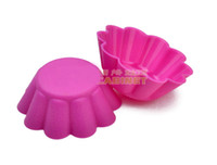 Wholesale DIY Silicone Cake Mold Flower Muffin Cupcake Inch Baking Molds Cake Cup