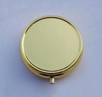 Cheap Copper Pill Boxes DIY Travel Medicine Organizer Container Metal Mini Jewelry Box Case 100PCS