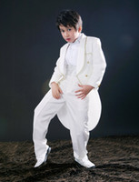Wholesale New Boys Attire Boy Wedding Suit kid suits Groom wear formal wear Complete Designer Tuxedos B038