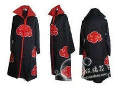 Wholesale Fashion Promotion New Anime Costumes Naruto Akatsuki Cosplay Cloak Size S M L XL XXL