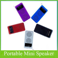 Wholesale Multifunction Usb Card Speaker With FM Portable Mini Speaker With LED Screen Support USB SD Card AF
