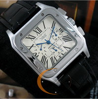 Wholesale jaragar White Mens Luxury Automatic Swiss Square Stainless Leather Men Dive Mechanical Watches Sport