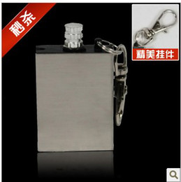 Wholesale New Waterproof Stainless steel surface Fire Starter Flint Portable Flint Stone For Camping
