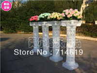 Wholesale New hollow out plastic Roman column road lead wedding items luminous road lead Roman column