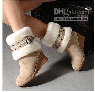 2013 Fashion Wedge Ankle Boots For Women, Winter Boots And Women ...