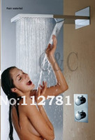 Wholesale Waterfall Shower Head With Dual Rain And Waterfall Functions Shower Brass Thermostatic Mixer Valve
