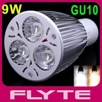 Wholesale High power W GU10 LM LED Bulb Light White Warm White LED SpotLight Lamp V