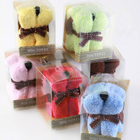 Wholesale 100 Creative Dog Cake Towel Gift Hand Face Towel Washcloth Party Favor100 Cotton