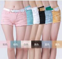 Cheap Women White Shorts Best Skinny Zipper Fly denim short