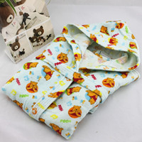 Wholesale Bathrobes child bathrobe cotton cotton toweling robe hooded bathrobe male female child cotton sleepwear