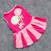 Wholesale New Cute Dog Mini Skirt Puppy Soft Cotton Fashion Clothes Pet Dog Apparel