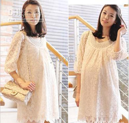 Wholesale 2012 new maternity dresses Korean lace dress for pregnant women spring summer autumn maternity dress