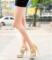 Wholesale Fashion Sexy Women s Vogue Stiletto High Heel Shoes water proof Platform Sequins buckle Boots color