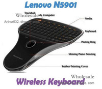 Wholesale Best Lenovo N5901 in G Wireless Mini Keyboard amp Mouse Trackball For PC Android TV Box