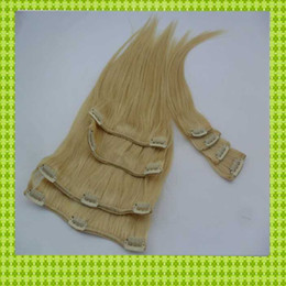 Wholesale 100 European Virgin Remy Human extension Queen Hair Clips inch Weave