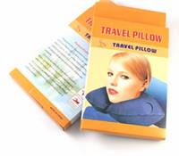 Wholesale 100pcs Air pillow Inflatable Travel Pillow Neck U Rest Air Cushion Fashion Cool