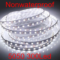 Wholesale Indoor strip light Meters Non waterproof SMD5050 LED White Red Green led strip lights LEDs M